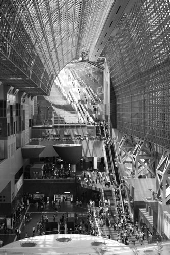 Cavernous Kyoto Station