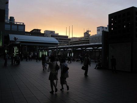 Kyoto Station at night