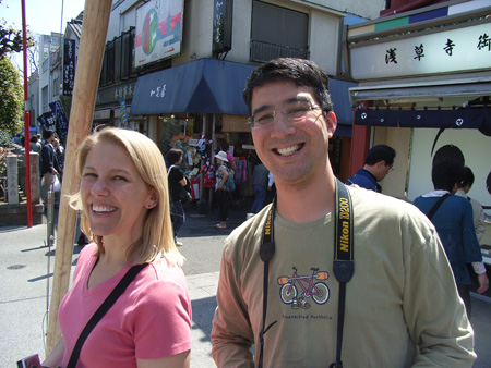 Ben and Carrie in Asakusa