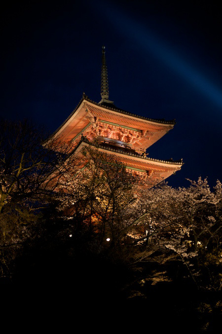 Night light up on Higashiyama