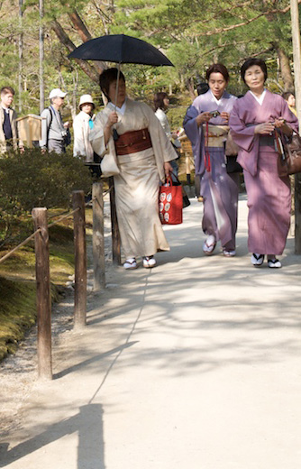 Kimonos at Ginkakuji