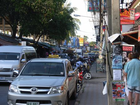 The city of Chaweng in Koh Samui