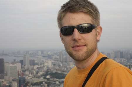 Wouter on top of Roppongi Hills