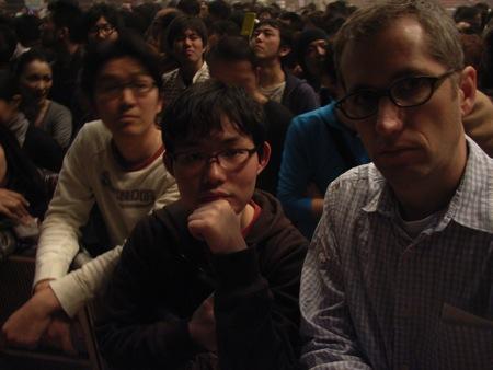 Tomo and Jon and the concert
