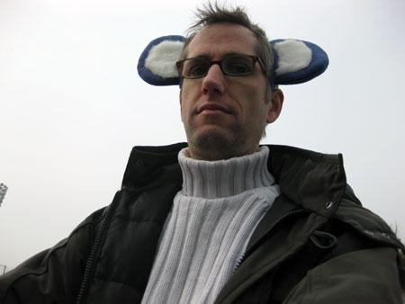 A fan of the Chubu Dragons