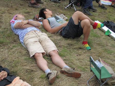 Japanese can sleep anywhere, anytime