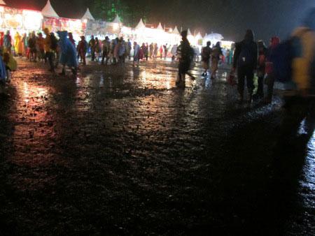 A wet food court
