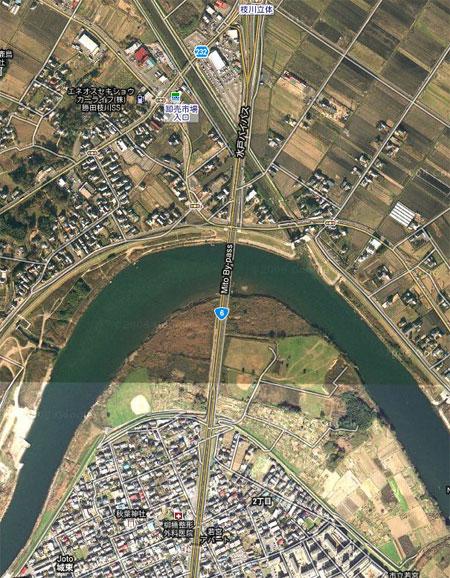 Surge moving up the Naka River in Ibaraki / Hitachinaka and Mito