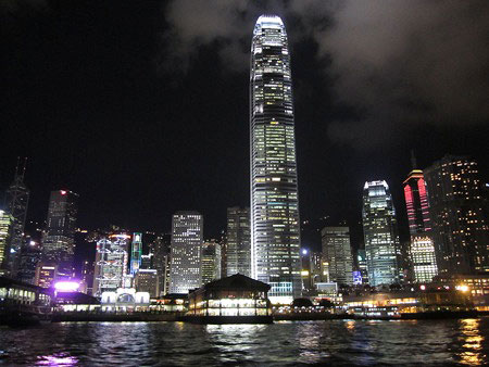 Hong Kong Island from Victoria Harbor