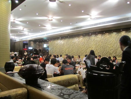 Kowloon Restaurant, around 10:00 pm