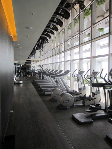 Fitness Center with a view