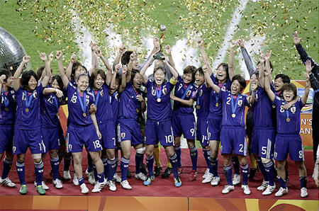 Japan wins 2011 Women's Soccer World Cup!