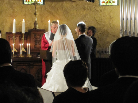 Ken and Mayumi at the alter