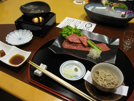 Meat and soba