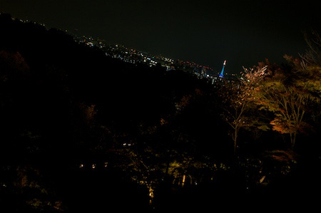 Kyoto at night from Kiyomizudera