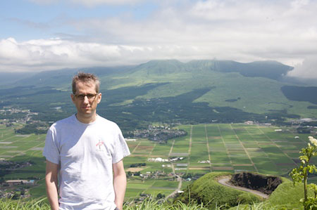 On the rim of Mt. Aso