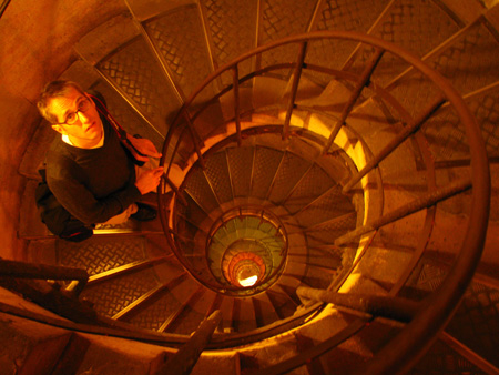 On the descending spiral staircase