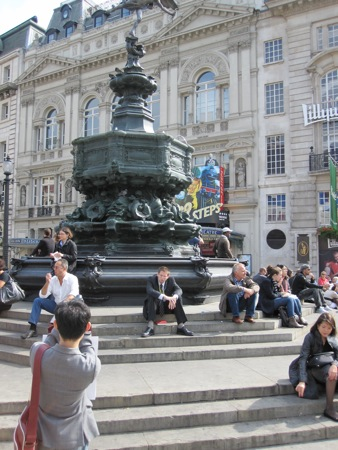 Eros statue, Picadilly