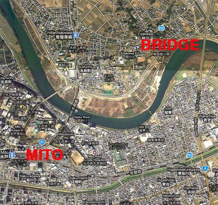 Naka River in Ibaraki / Hitachinaka and Mito