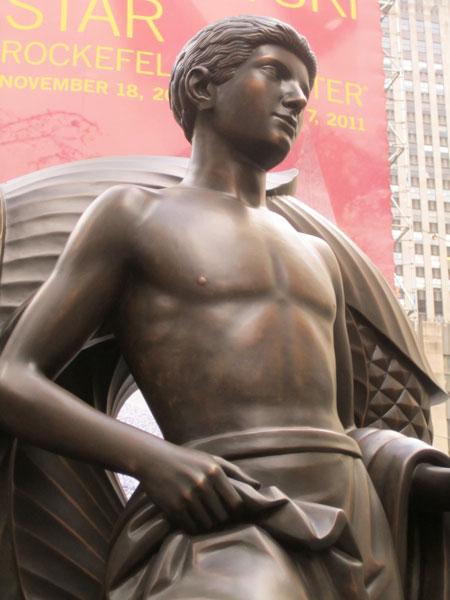 A statue at 30 Rockefeller