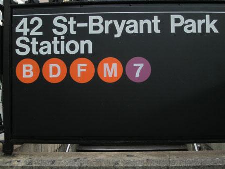 Bryant Park subway station