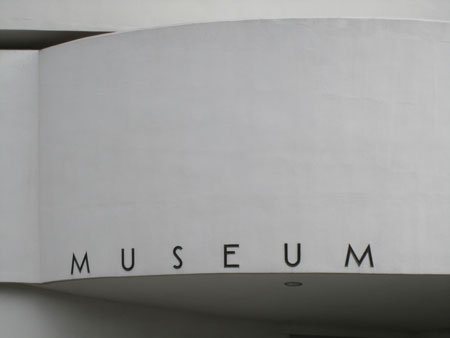 Classic Guggenheim lettering