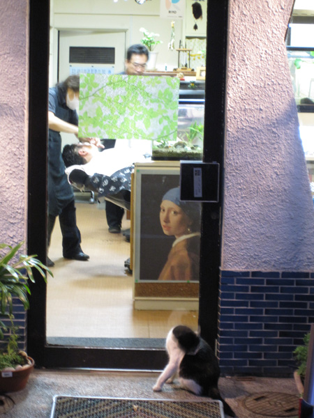 Osu Kannon barber shop