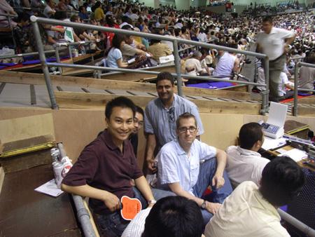 Adryan, Shuji, Steve, me