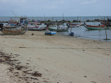 Fishing boats in Lamai