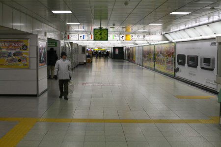 Empty Corridor at 9:30 am, Shinjuku Station, January 1, 2009
