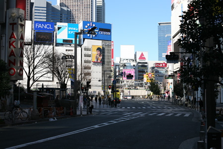 Empty Street Shinjuku, January 1, 2009