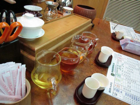 Tea sampling
